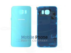 Genuine Samsung Galaxy S6 G920F Back Battery Cover Baby Blue - Part No: GH82-09706D